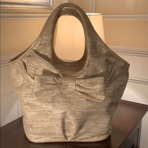 "Kate Spade ""Glitter Gold Bow"" Tote"